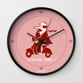 Don Issimo Clock. Pink Wall Clock