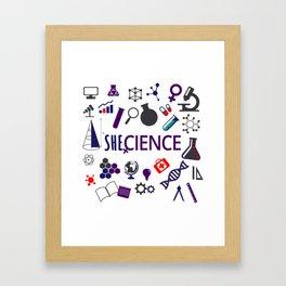 Shecience Framed Art Print