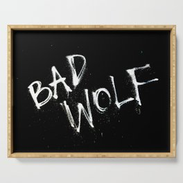 Doctor Who Bad Wolf Serving Tray