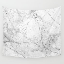 Nordic White Marble Wall Tapestry
