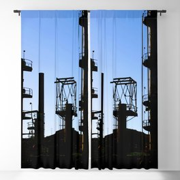 Silhouette Oil Refinery In Ventura Blackout Curtain