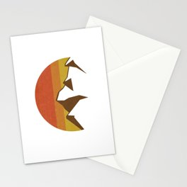 rocky mountains and fall sun Stationery Cards