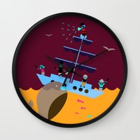 panic at the disco Wall Clocks featuring Panic by Papi