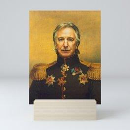 Alan Rickman - replaceface Mini Art Print