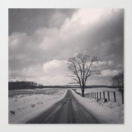 Snow Scene Canvas Print