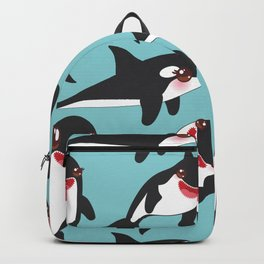 Lets go surfing, Kawaii orca Backpack