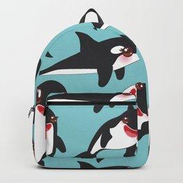 Lets go surfing, Kawaii orca Backpack