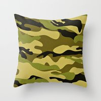 army Throw Pillows featuring ARMY by Sophie