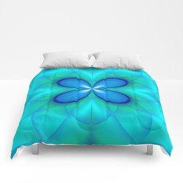 Four Blue Petals Comforters