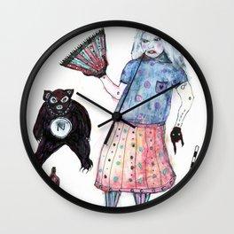 L'Eventail de Roberta Wall Clock