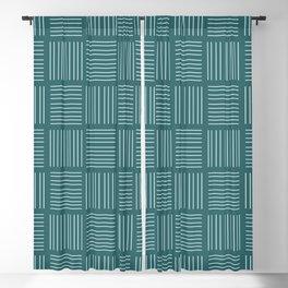 Spirit Water Stripe - Blue Blackout Curtain