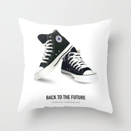 Back to the Future - Alternative Movie Poster Throw Pillow