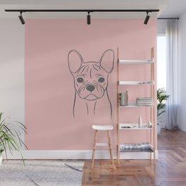 French Bulldog (Pink and Gray) Wall Mural