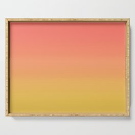 Coral through Gold Ombre Serving Tray