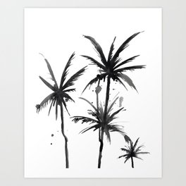 Paradis Noir VI Art Print