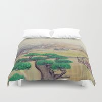 asian Duvet Covers featuring Asian Landscape by Fuselage Fashion