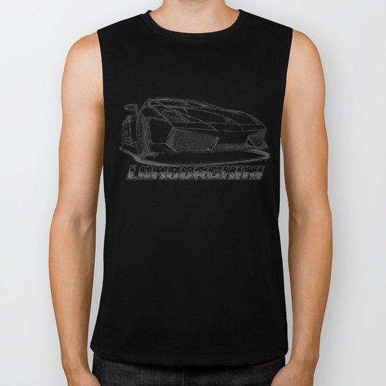 Lamborghini line drawing Biker Tank