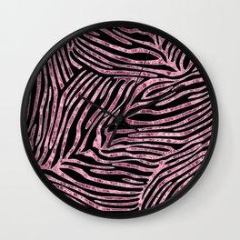 Tiger Stripes Rose Gold Wall Clock