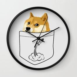 Doge pocket Wall Clock