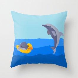 Swimming Lesson Throw Pillow