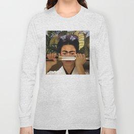 Kill Bill's O-Ren Ishii & Frida Kahlo's Self Portrait Long Sleeve T-shirt