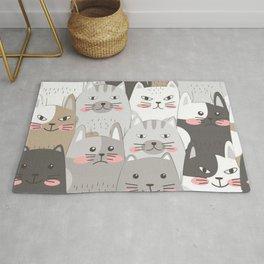 Cute cats seamless pattern Rug