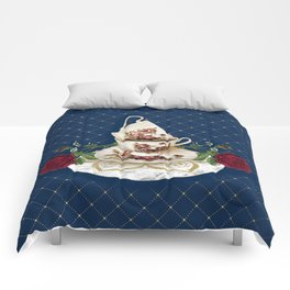 Vintage Rose Tea Cups Comforters