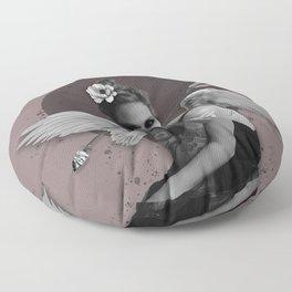 bird woman Floor Pillow