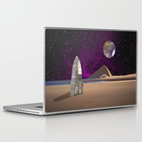watchmen Laptop & iPad Skins featuring Purple light swirls round and round thinking thoughts that make no sound by Donuts