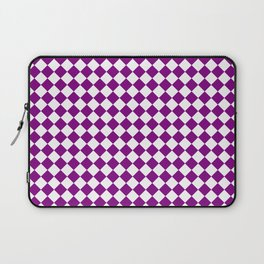 Small Diamonds - White and Purple Violet Laptop Sleeve