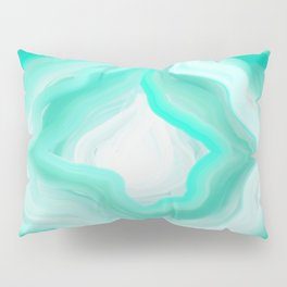 AGATE INTERPRETED:  OCEAN BLUES OIL PAINTING Pillow Sham