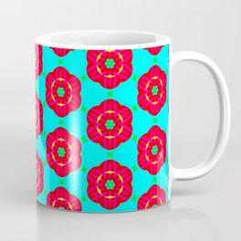 Funky red fowers pattern Coffee Mug