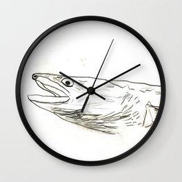Fish Face 3 Wall Clock