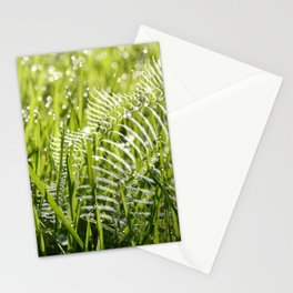 fan in the grass Stationery Cards