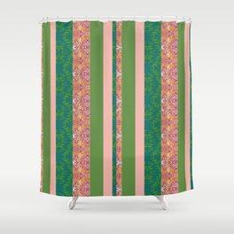 zakiaz bohemian stripe Shower Curtain
