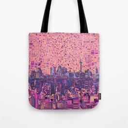 san antonio city skyline abstract 5 Tote Bag