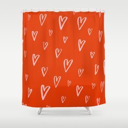 Heart Doodles 2 Shower Curtain