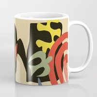 matisse Mugs featuring Inspired to Matisse (vintage) by Chicca Besso