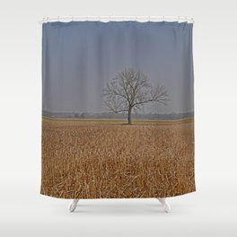 One Tree in a corn field Shower Curtain