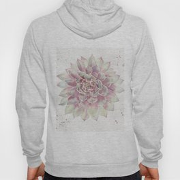 Big Succulent Watercolor Hoody