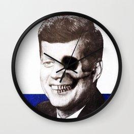 JFK SKULL PORTRAIT Wall Clock