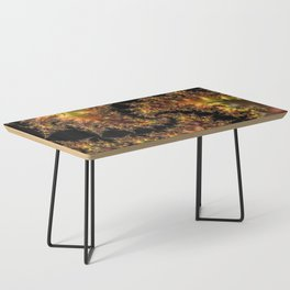 Autumn Leaves yellow brown orange Fractal Coffee Table