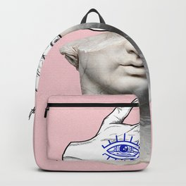 FACE of the YOUTH / Marble statue head Backpack