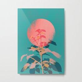 Flower noir Metal Print