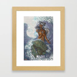 Ura and The Turtle Framed Art Print