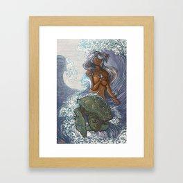 Ura and The Turtle Framed Art Print