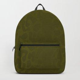 Burnt Yellow Shadowed Leopard Print Backpack
