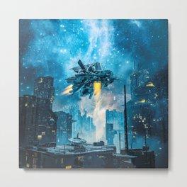 Voyager by Night Metal Print