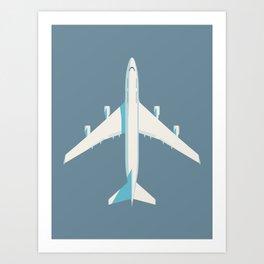 747-400 Jumbo Jet Airliner Aircraft - Slate Art Print