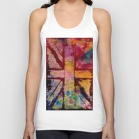 union jack Tank Tops featuring Union Jack  by ChandaElaine